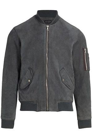 JOHN ELLIOTT Leather Bomber Jacket