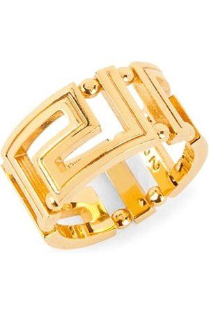 VERSACE Men Rings - Greca Goldtone Ring