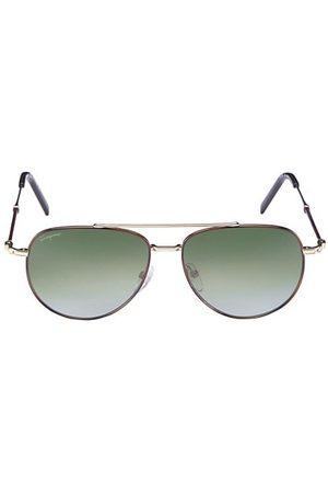Salvatore Ferragamo 58MM Aviator Sunglasses