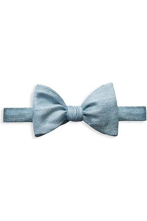 Eton Silk-Linen Blend Bow Tie