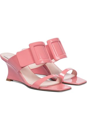 Roger Vivier Women Wedged Sandals - Viv' In The City patent leather sandals