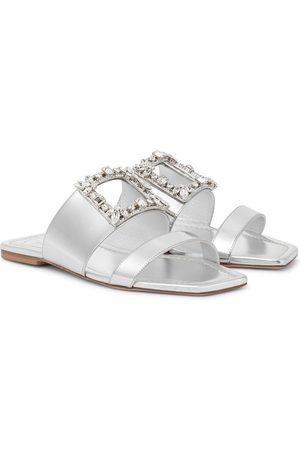 Roger Vivier Women Sandals - RV Broche embellished leather sandals