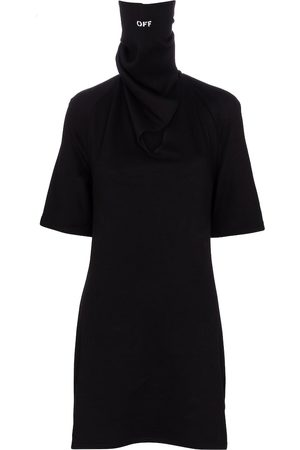 OFF-WHITE Women Casual Dresses - Bandana cotton jersey minidress