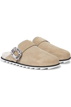 Roger Vivier Slidy Viv' suede slippers