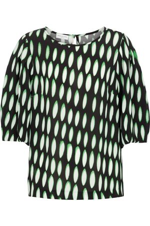 DRIES VAN NOTEN Printed stretch-crêpe blouse