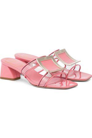 Roger Vivier Bikiviv' 45 patent leather sandals