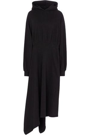 Balenciaga Asymmetric cotton hoodie dress
