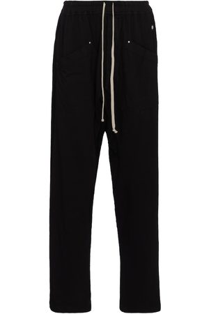 Rick Owens Women Wide Leg Pants - DRKSHDW cotton sweatpants