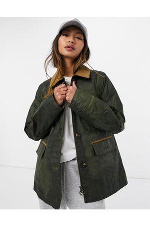Barbour Christie wax jacket in olive