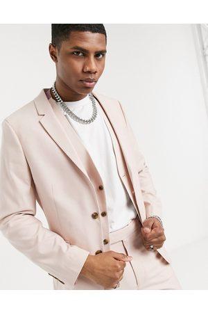 ASOS Wedding skinny suit jacket in rose