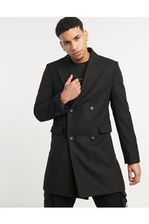 Moss Bros Moss London double breasted overcoat in