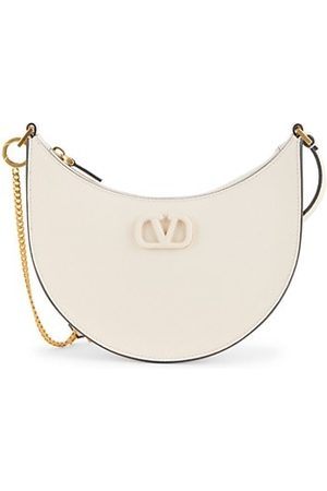 VALENTINO Women Handbags - Garavani Mini Vlogo Leather Hobo Bag