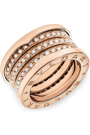 Bvlgari Rings - B.zero1 18K Rose & Diamond 4-Band Ring