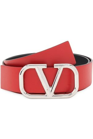 VALENTINO Men Belts - Garavani V Logo Leather Belt