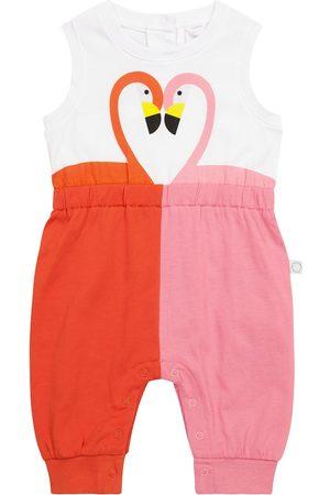 Stella McCartney Baby Flamingo cotton onesie