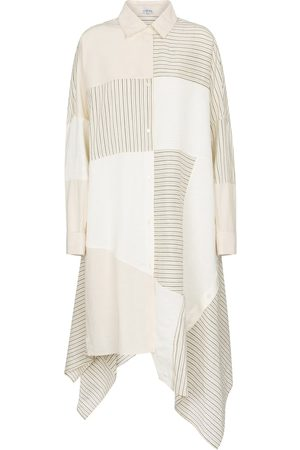 Loewe Patchwork linen-blend shirt dress