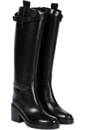 ANN DEMEULEMEESTER Leather knee-high riding boots