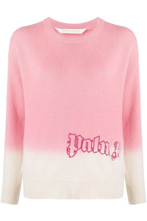 Palm Angels Women Jumpers - Logo-embroidered tie-dye jumper