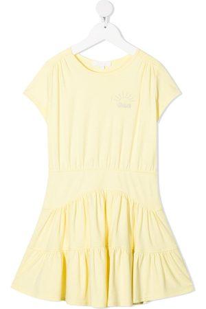 Chloé Embroidered-logo cotton dress