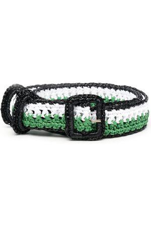 Serafini Striped buckle belt