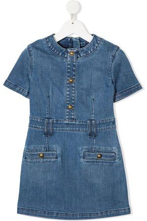 Balmain Short sleeve denim dress