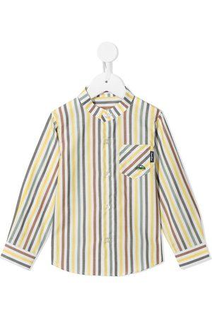Familiar Boys Long Sleeve - Striped long-sleeved cotton shirt