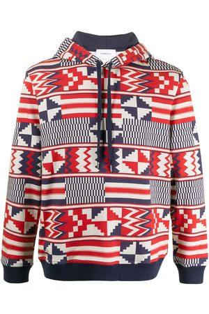 Ports V Geometric print hoodie