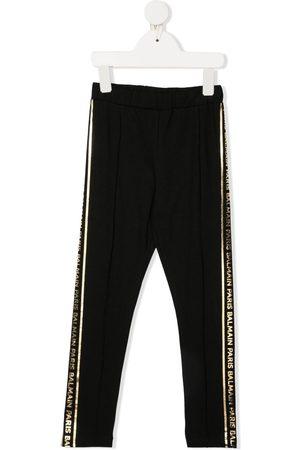 Balmain Metallic logo track trousers