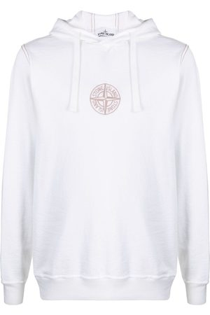 Stone Island Logo-embroidered cotton hoodie