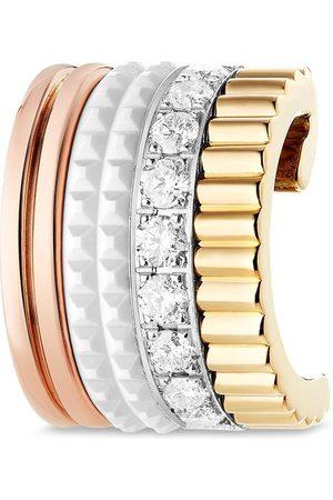 Boucheron 18kt yellow, rose and white Quatre diamond ear cuff