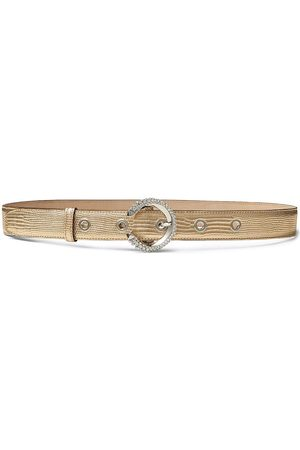 Jimmy Choo Metallic calf leather belt