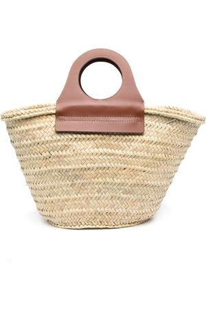 Hereu Women Handbags - Woven-straw tote bag