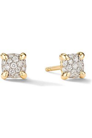 David Yurman 5mm 18kt yellow gold petite Chatelaine diamond stud earrings