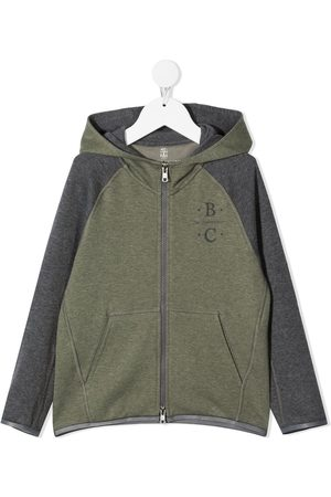 Brunello Cucinelli Logo zipped hoodie
