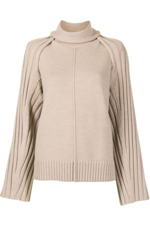 Peter Do Detachable-shoulder knitted top