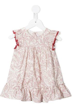 Tartine Et Chocolat Baby Casual Dresses - Botanical-print ruffle-trim dress