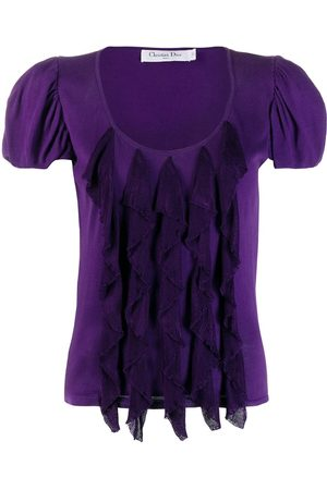 Dior Pre-owned balloon sleeves ruffled blouse