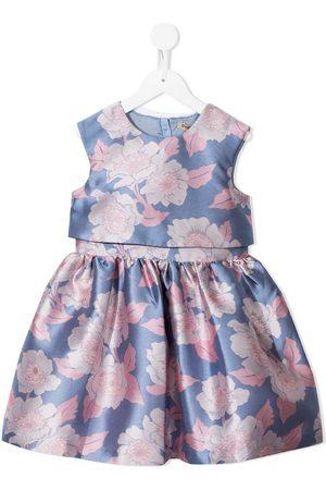 HUCKLEBONES LONDON Floral-print sleeveless dress