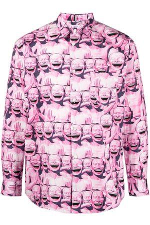 Comme des Garçons Graphic face print cotton shirt