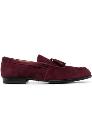 Tod's Men Loafers - Tassel-detail suede loafers