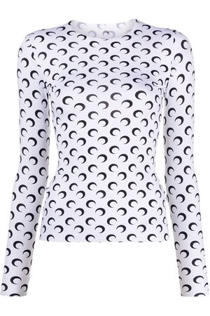 Marine Serre Crescent moon-print top