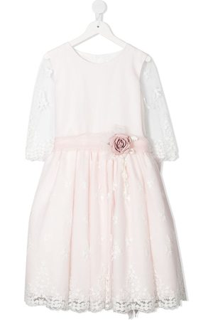 Mimilù TEEN embroidered floral party dress