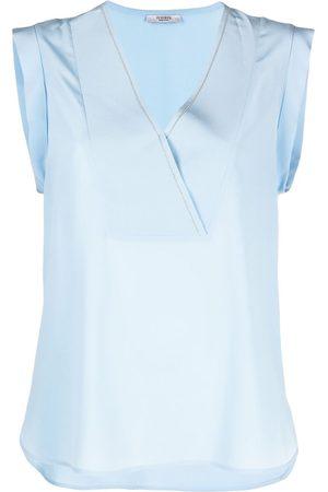 PESERICO SIGN Women Tank Tops - V-neck sleeveless blouse