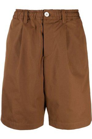 Marni Men Bermudas - Wide-leg cotton shorts