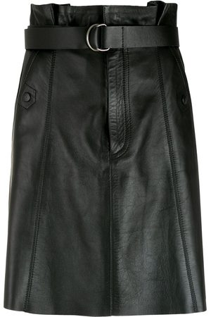NK Women Leather Skirts - Leather A-line skirt