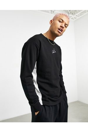 The Couture Club Pannelled hemless crew sweatshirt in