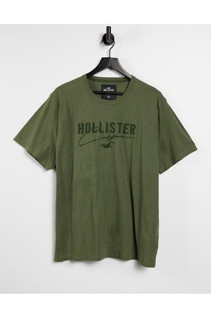 Hollister Men Short Sleeve - Tonal tech logo t-shirt in olive marl