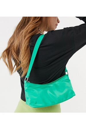 My Accessories London Exclusive nylon shoulder bag in with front zip