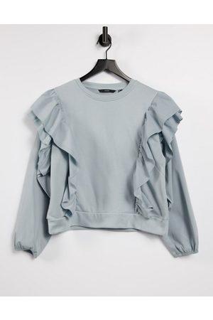 Vero Moda Women Sweatshirts - Sweat with ruffles in light