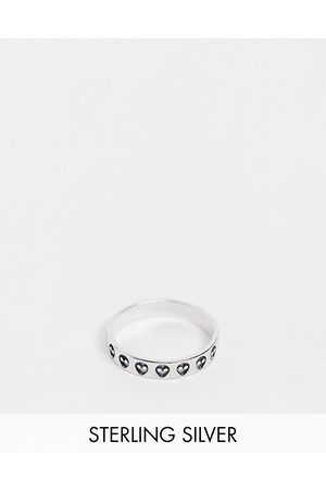 ASOS Sterling band ring with alien design in